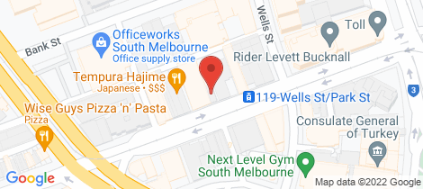 Location map for 50 Park Street South Melbourne