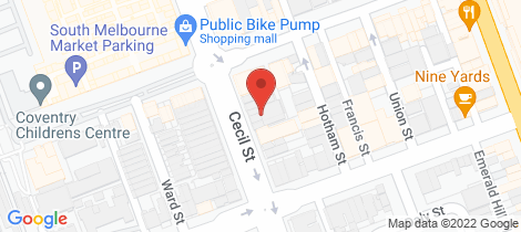 Location map for 143 Cecil Street South Melbourne