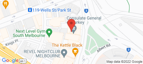 Location map for L7, 17/24 Albert Road South Melbourne
