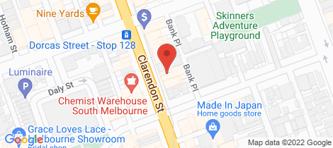 Location map for L2 299-301 Clarendon Street South Melbourne