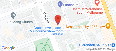 Location map for 234-236 Bank Street South Melbourne