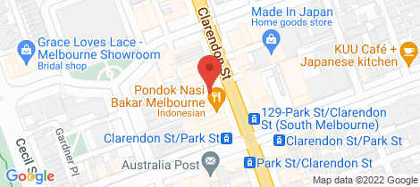 Location map for 346 Clarendon Street South Melbourne