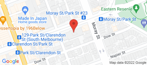 Location map for 102R 153-161 PARK STREET South Melbourne