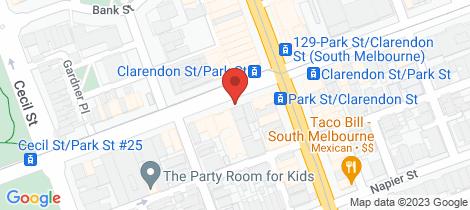 Location map for L1/215 Park Street South Melbourne