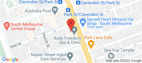 Location map for 1/388 Clarendon Street South Melbourne