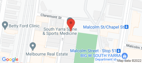 Location map for 1005/50 Claremont Street South Yarra