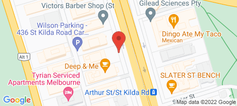 Location map for 206/442 St Kilda Road Melbourne