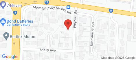 Location map for 6 Weyburn Road Boronia