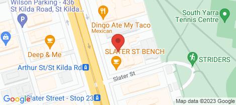 Location map for PR/431 St Kilda Road Melbourne