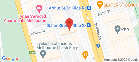 Location map for 703/454 St Kilda Road Melbourne