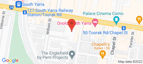 Location map for 9/210 Toorak Road South Yarra