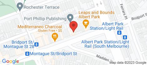Location map for 98 Bridport Street Albert Park