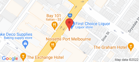 Location map for 205/120 Bay Street Port Melbourne