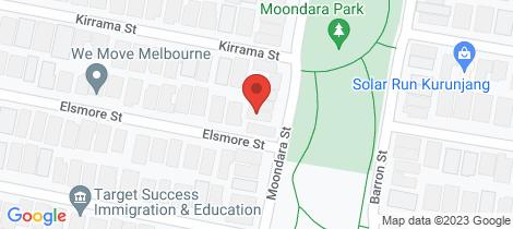 Location map for 32 Moondara Street Tarneit