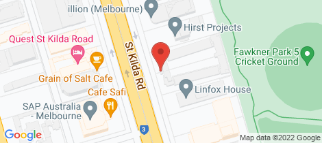 Location map for 12/485-489 St Kilda Road Melbourne