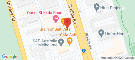 Location map for 1202/480 St Kilda Rd Melbourne