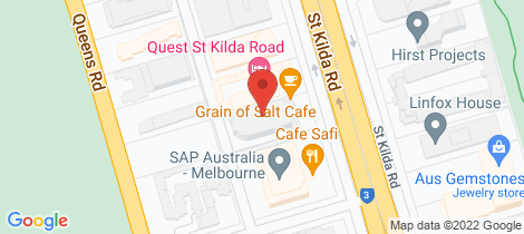 Location map for 804/480 St Kilda Road Melbourne
