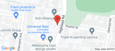 Location map for 213 HIGHFIELD ROAD Camberwell