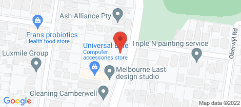 Location map for 215 HIGHFIELD ROAD Camberwell