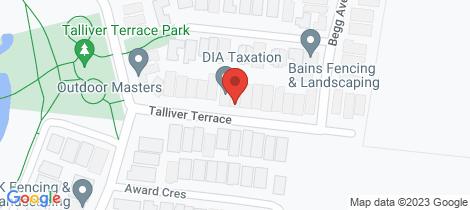 Location map for 22 Talliver Terrace Truganina