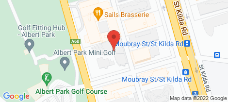 Location map for 1005/55 Queens Road Melbourne