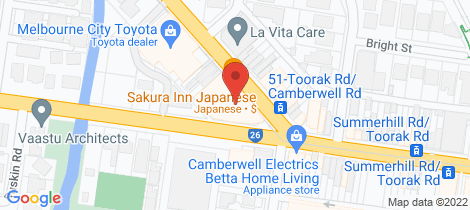 Location map for 506/1101 Toorak Road Camberwell