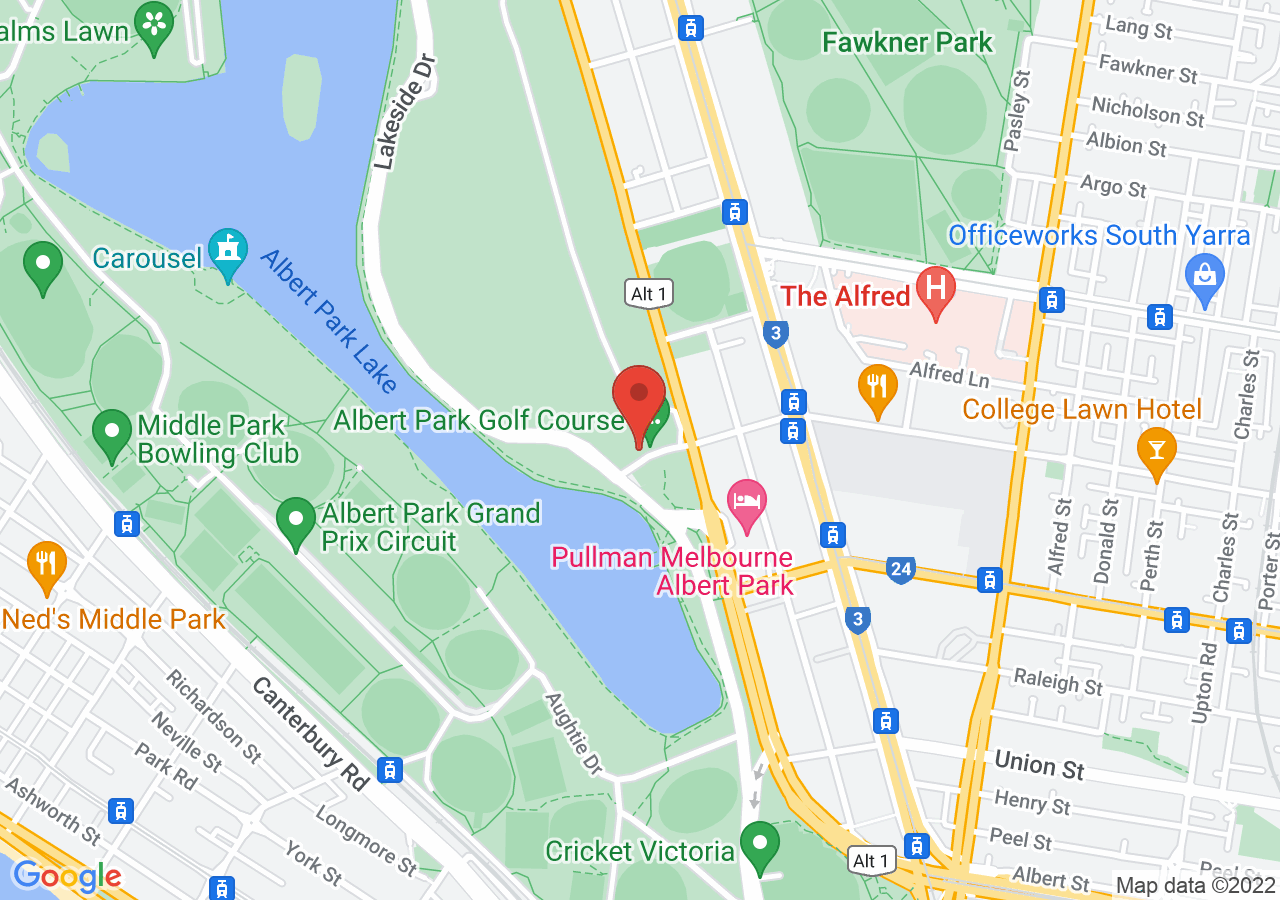 The location of Greenfields Albert Park