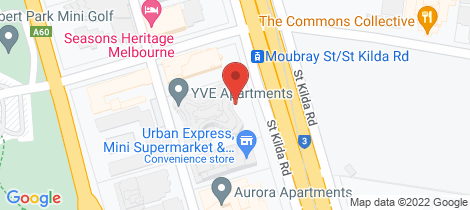 Location map for 1401/576-578 St Kilda Road Melbourne