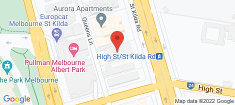 Location map for 1402/594 St Kilda Road Melbourne