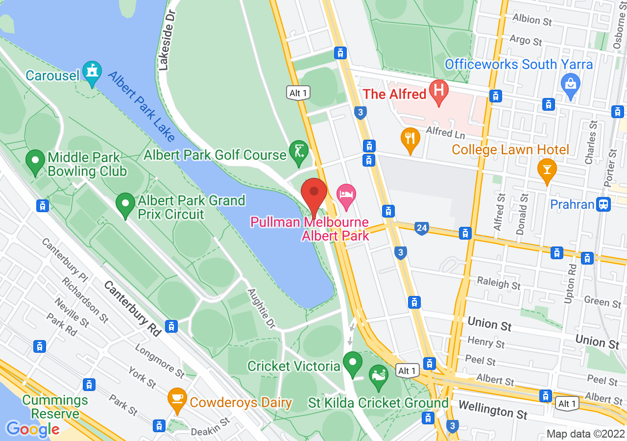 The location of The Park at Albert Park