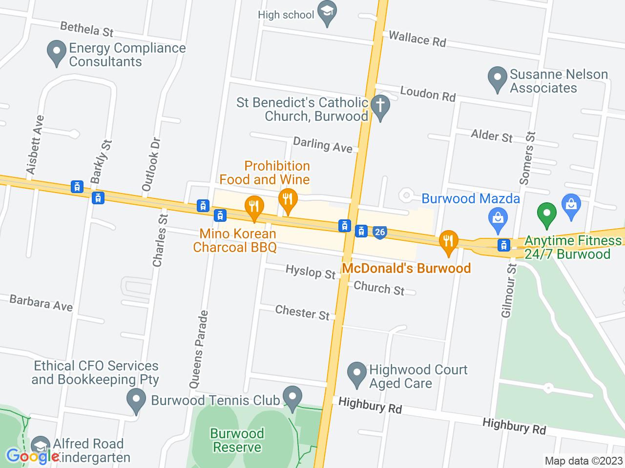 Google map: 1414 Toorak Rd, Camberwell VIC 3124, Australia