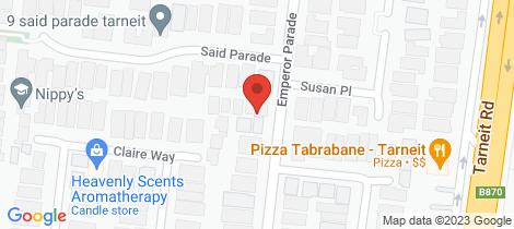 Location map for 1 Said Parade Tarneit