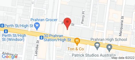 Location map for 603/105 High Street Prahran