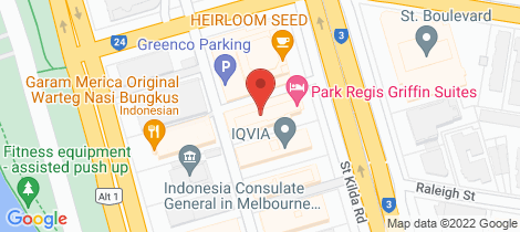 Location map for 75/604 St Kilda Road Melbourne