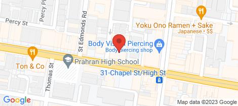 Location map for 213/153B High Street Prahran