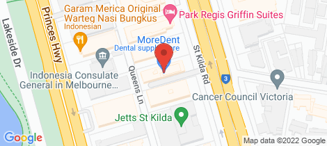 Location map for 6W 608 StKilda Road Melbourne