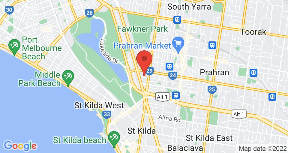 Google Map of UniLodge on Raleigh - Student Accommodation Melbourne