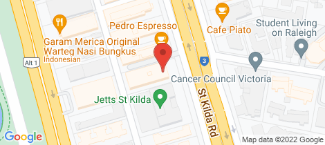 Location map for 1101/610 St Kilda Road Melbourne
