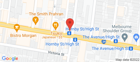 Location map for 251 High Street Prahran