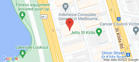 Location map for 206/74 Queens Road Melbourne