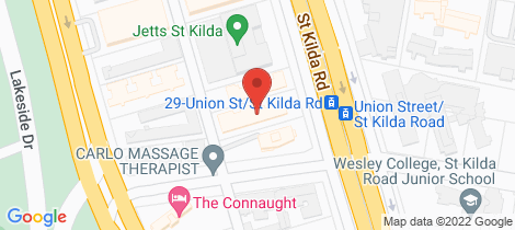 Location map for 205/620 St Kilda Road Melbourne