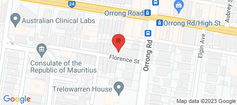 Location map for 2 Florence Street Prahran