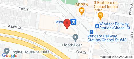 Location map for 4/174 Peel Street Windsor