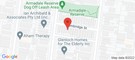 Location map for 9 Cambridge Street Armadale