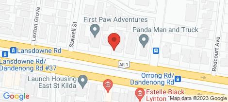 Location map for 10/327 Dandenong Road Prahran