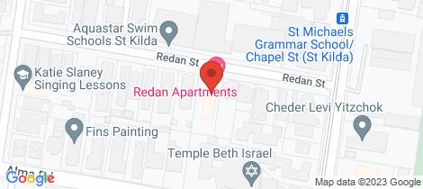 Location map for 22/25 Redan Street St Kilda East