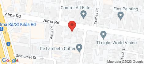 Location map for 5/41 Alma Road St Kilda