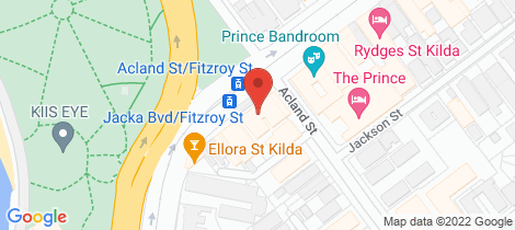 Location map for 17 Fitzroy Street St Kilda