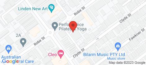 Location map for 7/17 Robe Street St Kilda