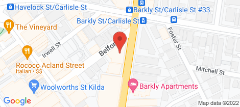 Location map for 217/173 Barkly Street St Kilda